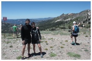 with Ellie overlooking WS100 course.